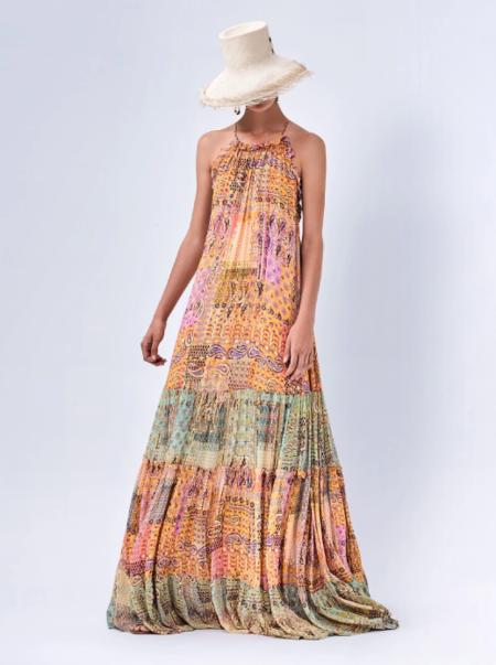 Alexis Rosaline Dress - Sunset Paisley