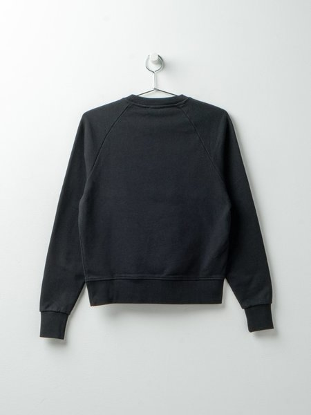 Maison Kitsuné Fox Head Patch Adjusted Sweatshirt - Black