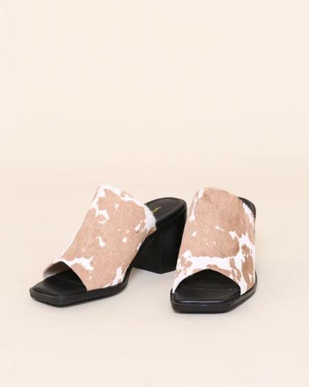 """""""INTENTIONALLY __________."""" Imply Sandal - Taupe Moo"""