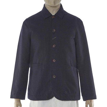 Universal Works Wool Marl II Bakers Jacket - Navy