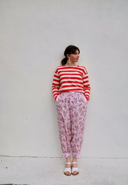 Girls of Dust Sailor Long Sleeve top - red Stripe
