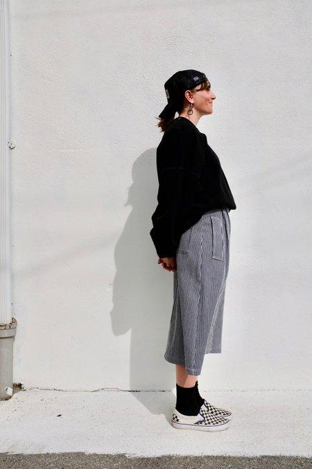 Girls of Dust Worker Skirt - Hickory Stripe Blue