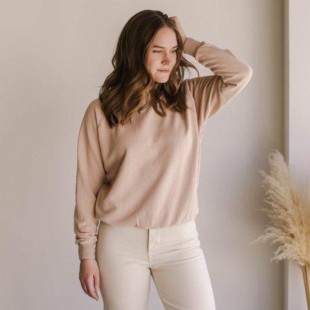 Jungmaven Bonfire Long Sleeve Raglan sweater - Dusty Pink