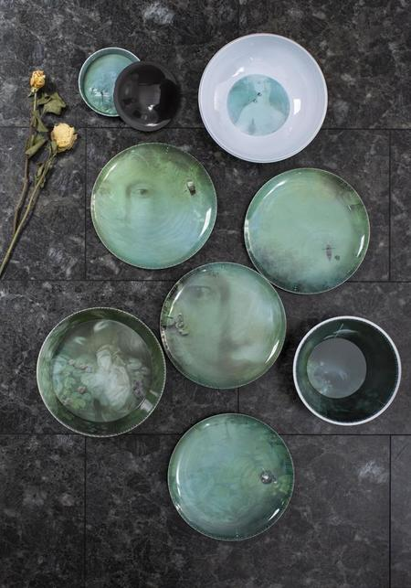 ibride Narcisse Yuan Stacking Bowl and Plate Set - Noir