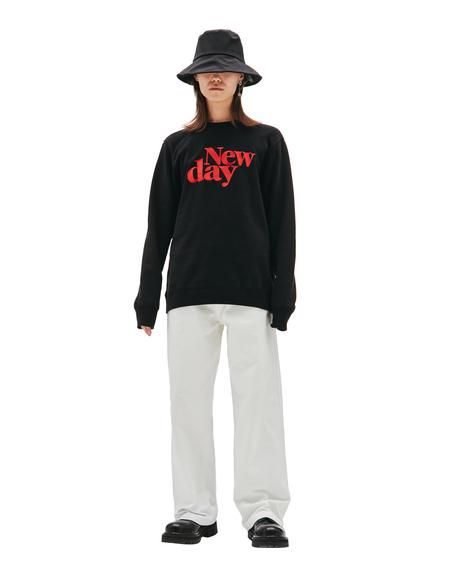 Undercover New Day Printed Sweatshirt - black