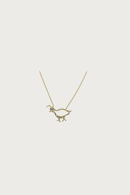Xiao Wang Dot Dot Quail Necklace - Gray Diamond/Gold