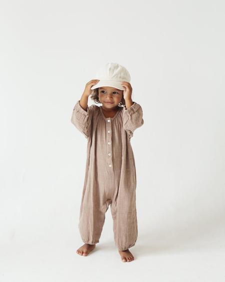 kids Summer & Storm Long Sleeve Baby Romper - Mushroom
