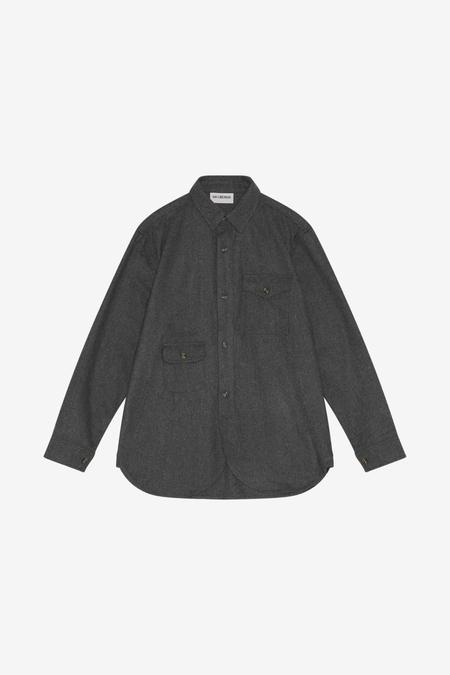 Han Kjøbenhavn Army Shirt - Grey Wool Logo