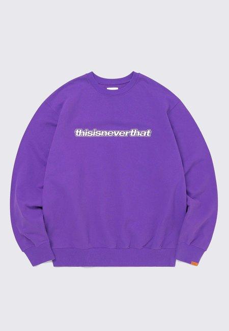 ThisIsNeverThat ESP Logo Crewneck sweater - purple
