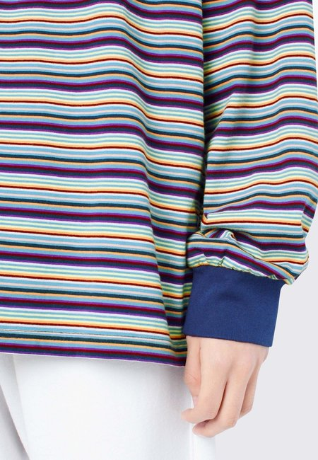 ThisIsNeverThat Striped Long Sleeve tee - grey/blue/red