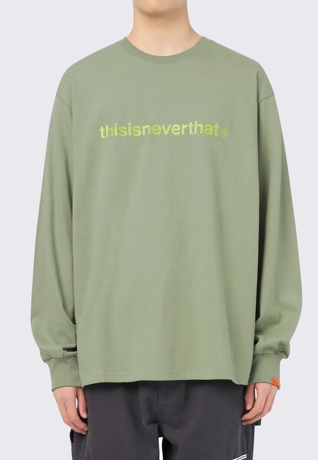 ThisIsNeverThat T-Logo Long Sleeve - light olive