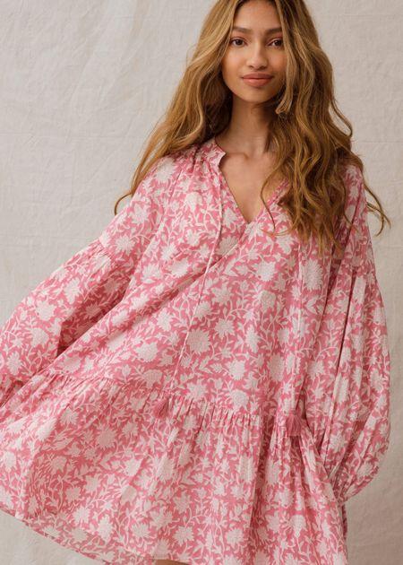 Ophelia & Indigo Kitty Mini Dress - Dahlia Pink