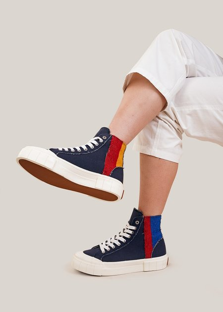 Unisex Good News Palm Moroccan Sneakers - Navy