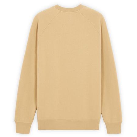 Maison Kitsuné Fox Head Patch Classic Sweatshirt - Beige