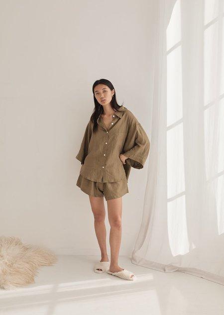 Deiji Studios The 03 Sleepwear Set - Olive