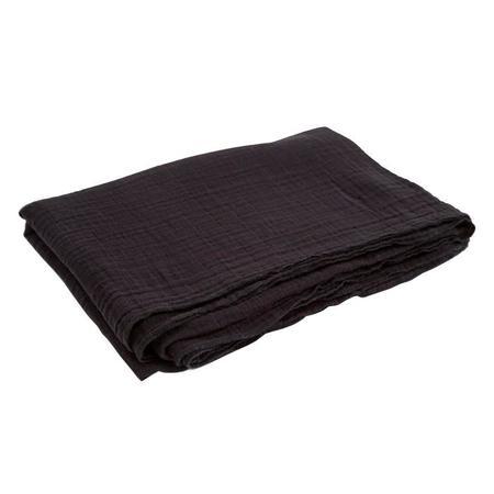 Autumn Paris Nappe Muslin Tablecloth - Black