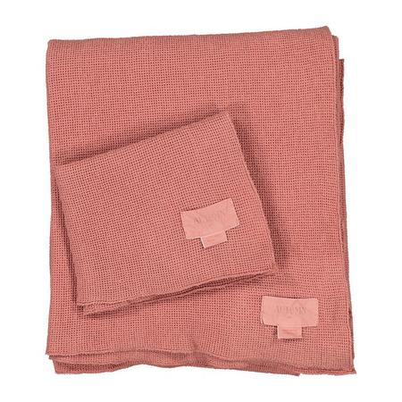 Kids Autumn Paris Small Honeycomb Towel Kit - Terracotta Brown