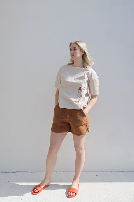 Vestige Story Kindred Embroidered Tee - Copper