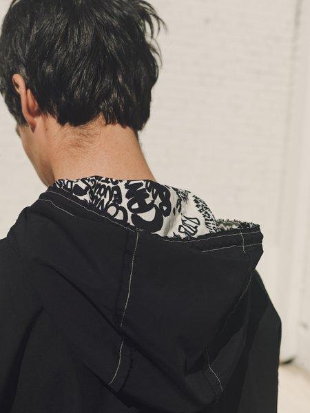 Marni Raw Edge Cotton Voile Hooded Shirt Jacket - Black
