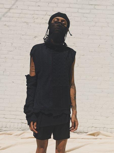 TAKAHIROMIYASHITA The Soloist. One Sleeve Cotton Knit Dystopia Sweater