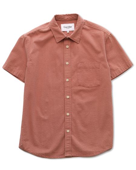 Corridor Seersucker Shirt - Dusty Rose