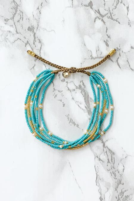 tai Pearl Seed Bead Bracelet - Turquoise