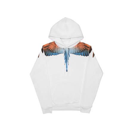 MARCELO BURLON Wings hoodie - White