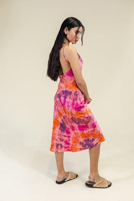 abacaxi x SVNR Marigold Sunset Silk Slip Dress