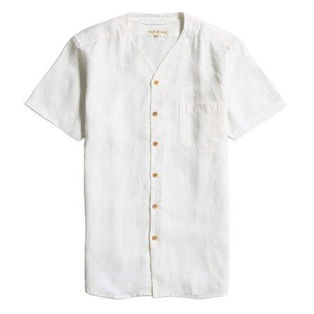 Far Afield HARVEY S/S SHIRT - WHITE