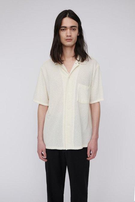 Our Legacy Box Short Sleeve Shirt - White Boucle
