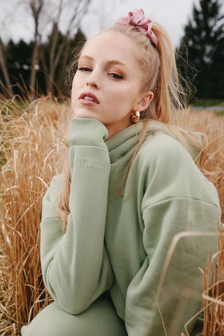 Shady Lady Butter Fleece Hoodie sweater - Pistachio