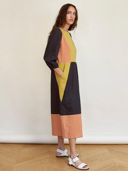 Sideline Peace Dress - Colour Block