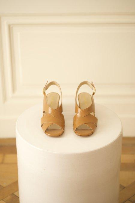Anne Thomas Moroder Romy heels - Naturale