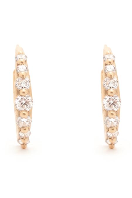 Valley Rose Juno Hoops - Diamonds