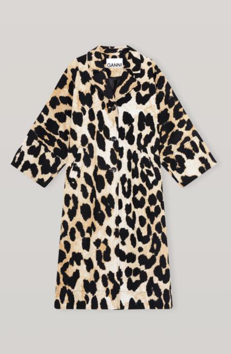 Ganni Lightweight Coat - Maxi Leopard print