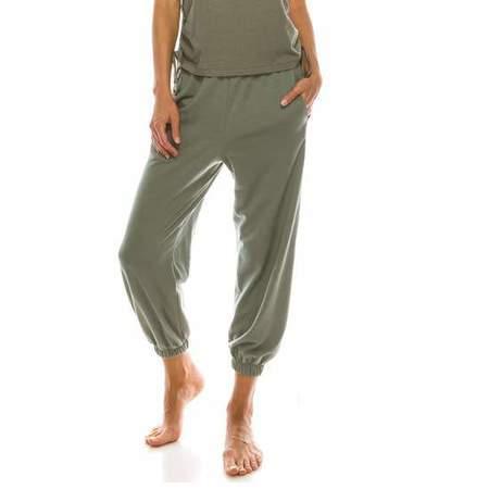 Fabina LA Organic Hemp Meditate Jogger - Sage Green