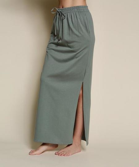 Fabina LA Organic Hemp Side Slit Skirt - Grey