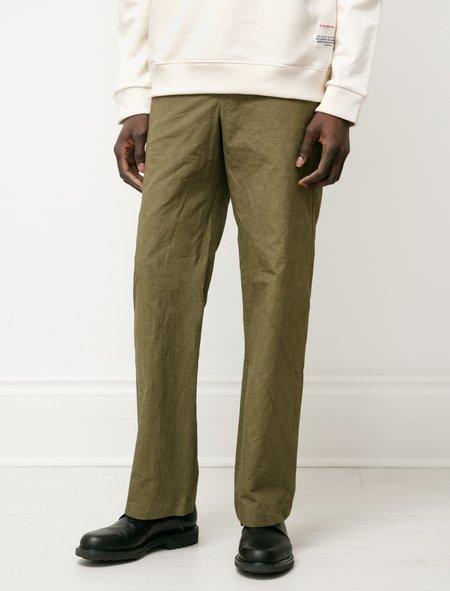Frank Leder Cotton Linen Seed Trouser - Olive