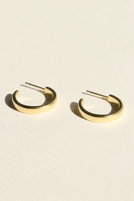 BRIE LEON 925 Elle Stud Hoop Earrings - 18k Gold Plated