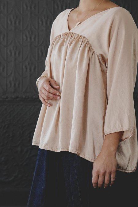Pamela Mayer Shirred V-neck Top