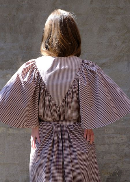 Christine Alcalay Maya Cotton Poplin Dress - Earth Combo