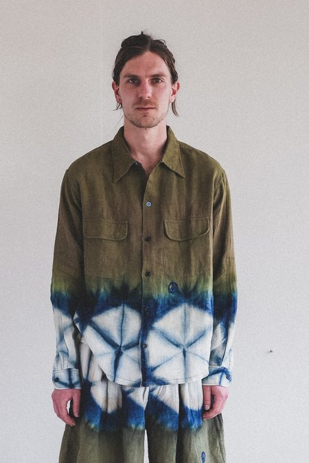 STORY mfg. Snack Shirt - Forest Clamp Dye