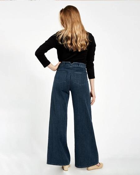 LOUP Long Sabrinas pants - Dark Indigo.