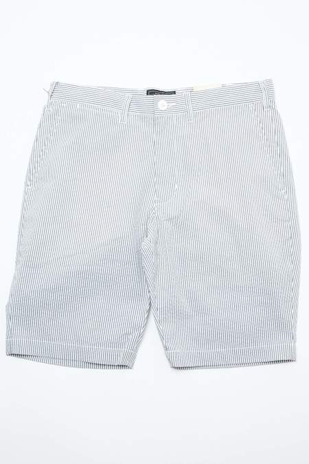 Beams Plus Ivy Coolmax Seersucker Shorts - Blue/White