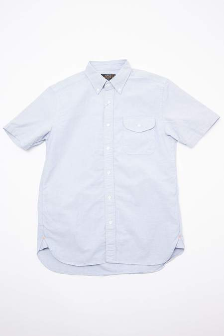 Beams Plus Short Sleeve B.D. Oxford Shirt - Sax