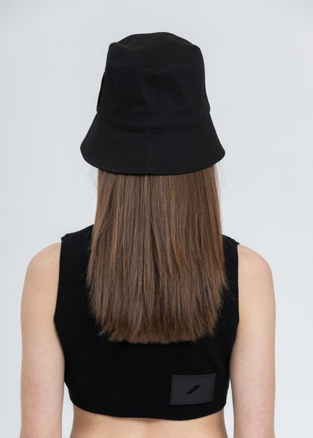 we11done New Rubber Patch Bucket Hat - Black