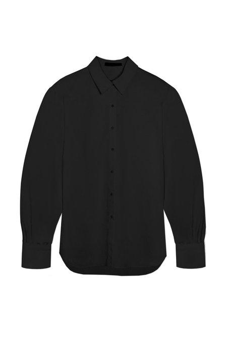KES Halo Cotton Button-Up shirt - Black