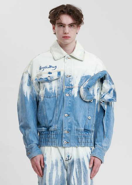 Feng Chen Wang Layered Denim Jacket - Blue/White