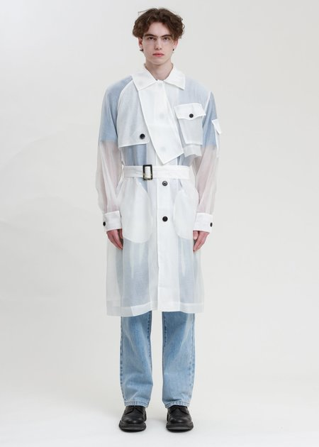 Feng Chen Wang Transparent Woven Coat - Clear
