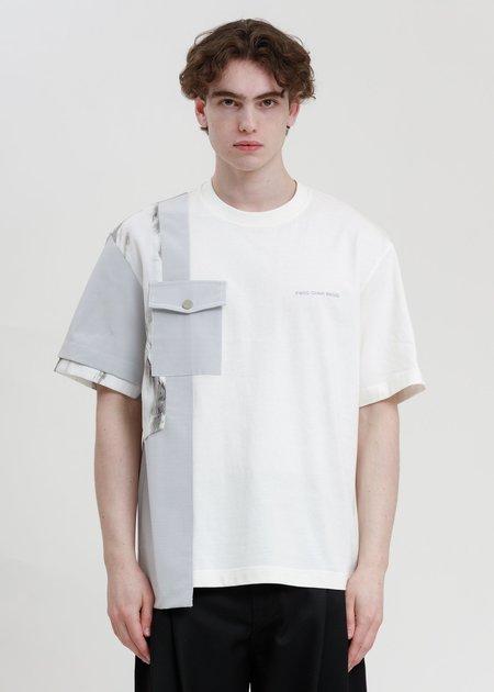 Feng Chen Wang Paneled T-Shirt - White/Grey
